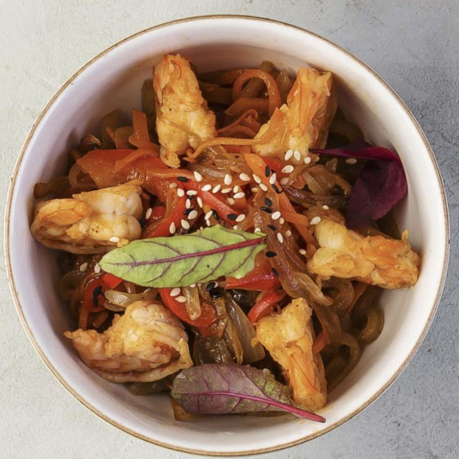 ВОК Креветки в азиатском соусе